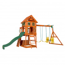 Backyard Discovery Atlantic Play Tower with Swings